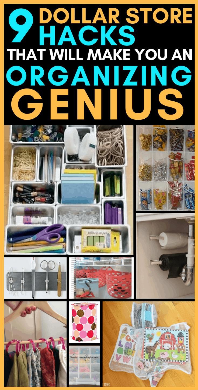 9 Dollar Store Hacks That Will Make You An Organizing Genius