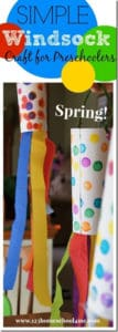 windsock craft activity for kids