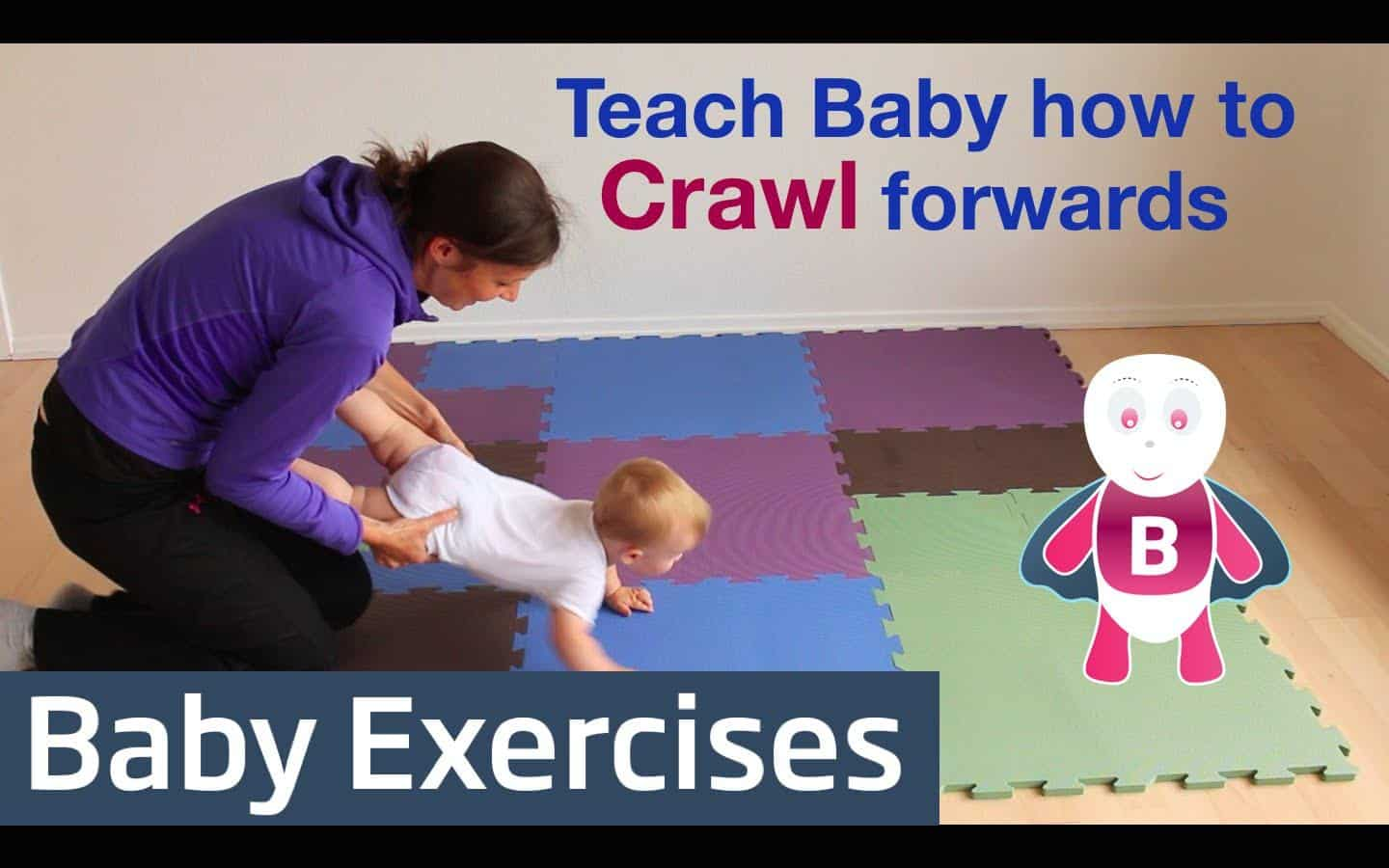 teach baby to crawl with baby exercises