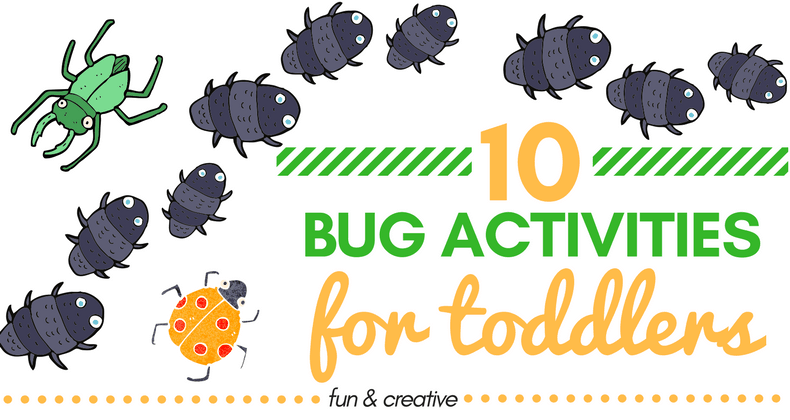 We found 10 fun and creative bug activities for toddlers that should be a big hit at home (great activities for the spring & summer months)!