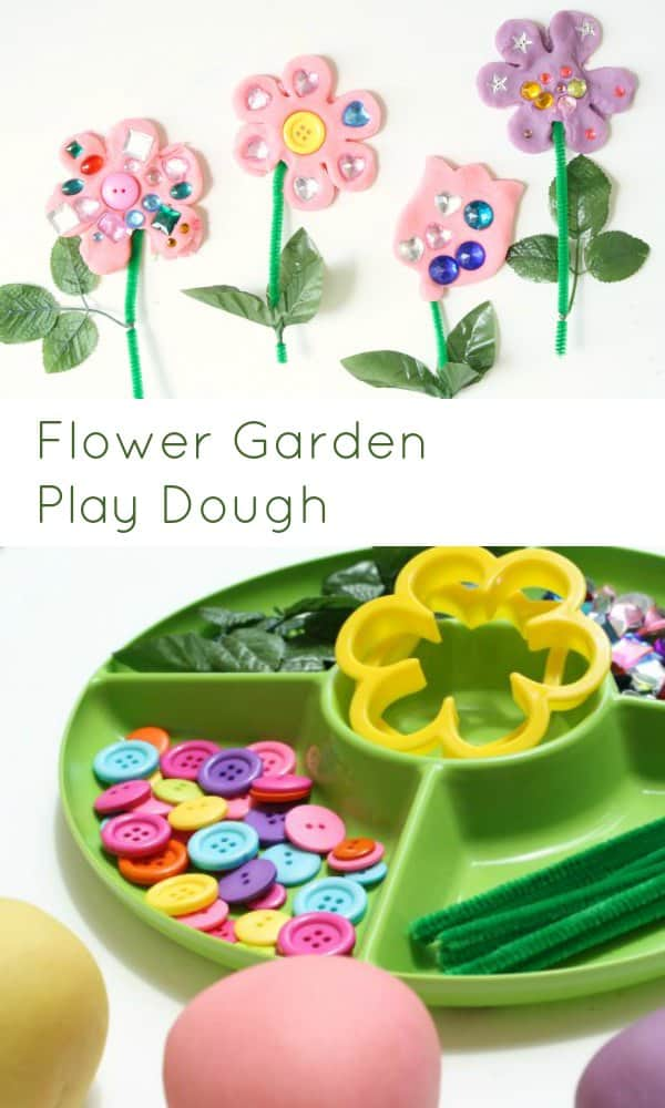 flower garden play dough activity