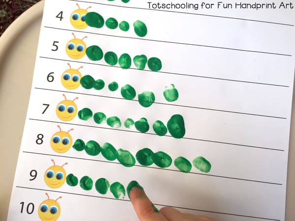 finger paint finger print counting