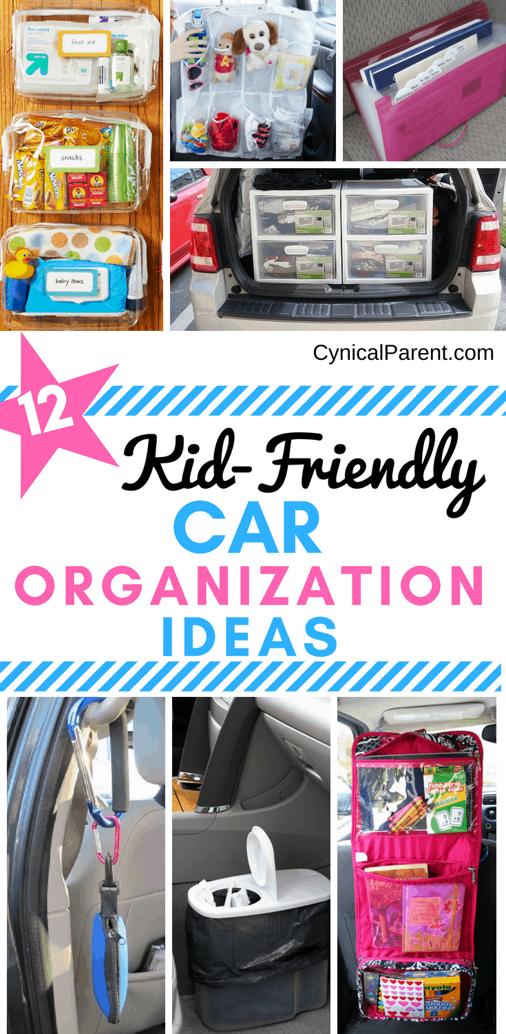 If you have kids, you know how difficult it can be to keep your vehicle clean and organized. Here are 12 insanely clever kid-friendly car organization ideas for moms and dads!