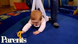 helping baby learn to crawl