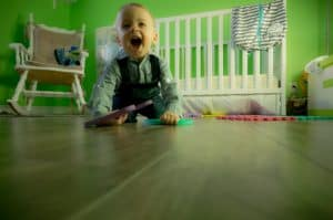 baby on the move - crawling
