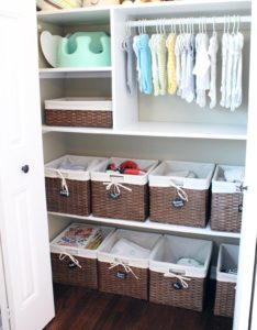 baby closet ideas - Basket Closet Storage