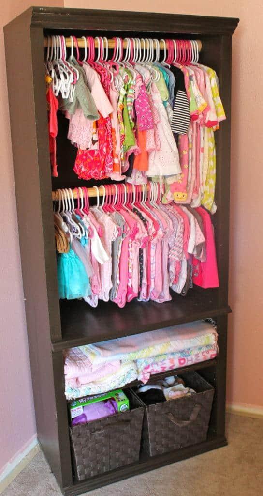 baby closet ideas - bookcase closet