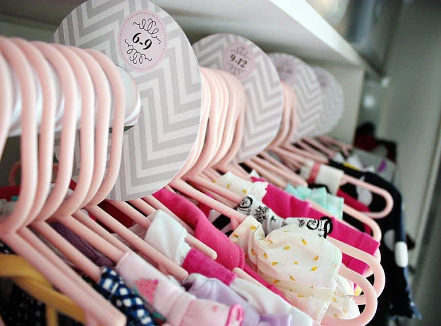 baby closet ideas - Closet Organized by Size