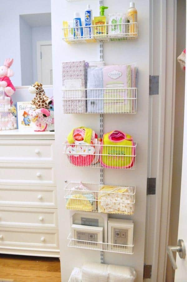 baby closet ideas - Using the Closet Doors for Storage