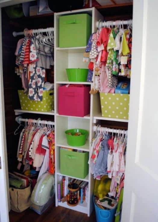 baby closet ideas - Four Section Closet