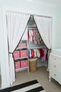 baby closet ideas - No Door Closet