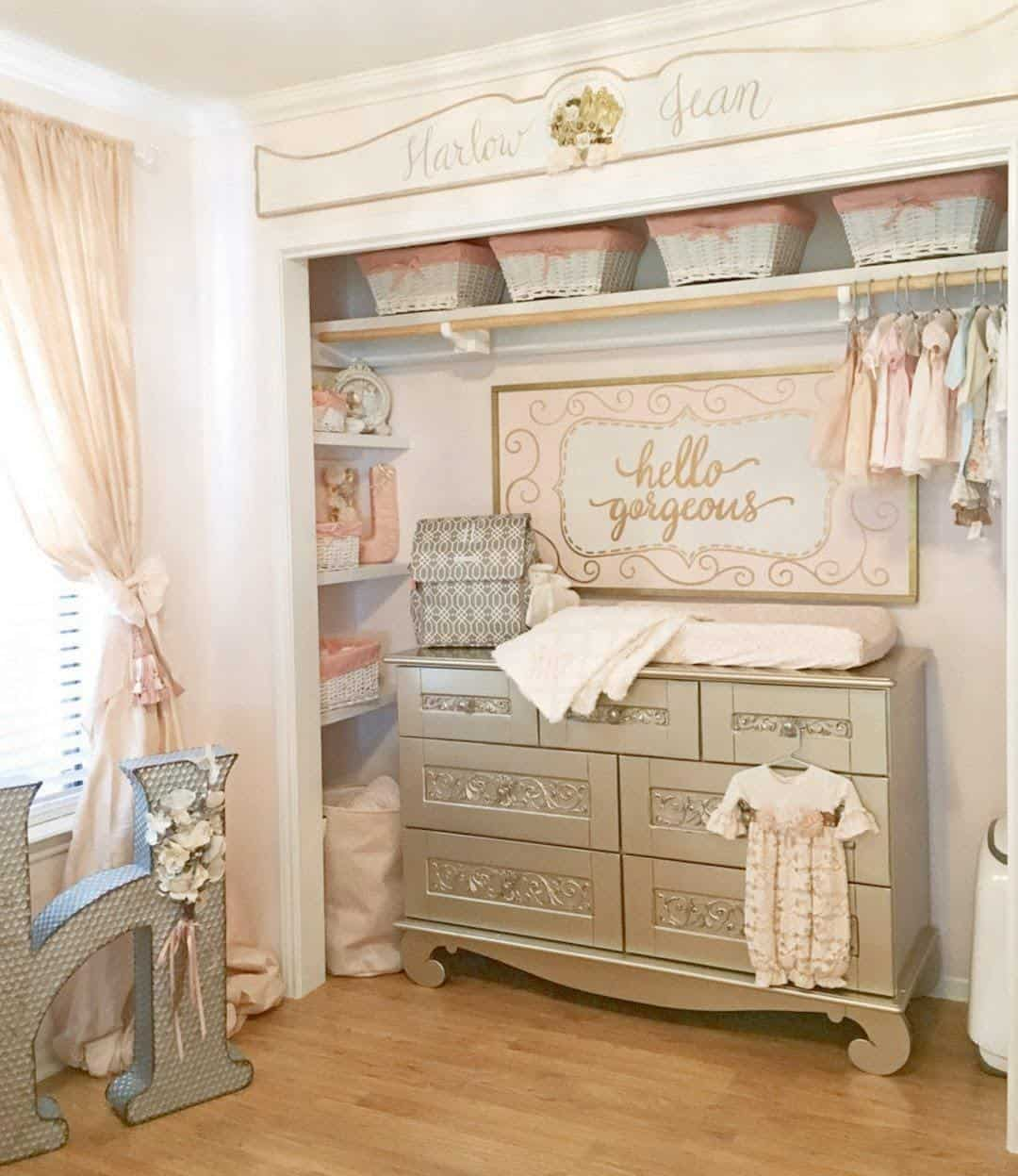 baby closet ideas - Diaper Changing Table Closet