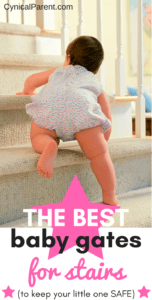Shopping for baby gates to keep your little one safe around stairs can be overwhelming - there are so many choices! We've made it easier for you by narrowing the list of the best baby gates for stairs down to four...
