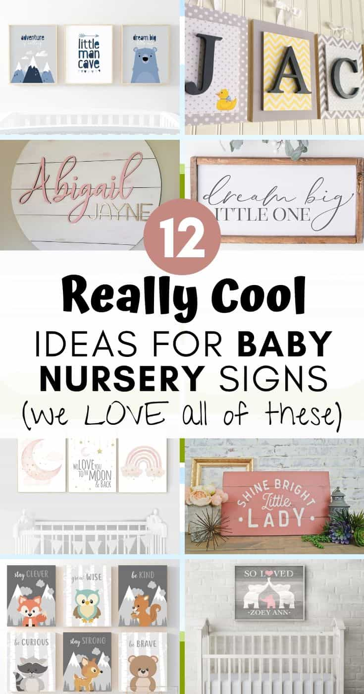 Here are some of our favorite baby nursery signs that work well across a variety of themes and designs. Check them out!