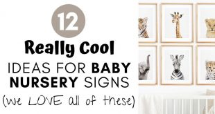 Ideas for Baby Nursery Signs