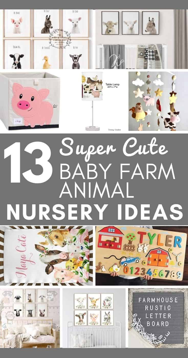 If you're getting ready to decorate a nursery, here are some really cute baby farm animal nursery ideas. Check them out!