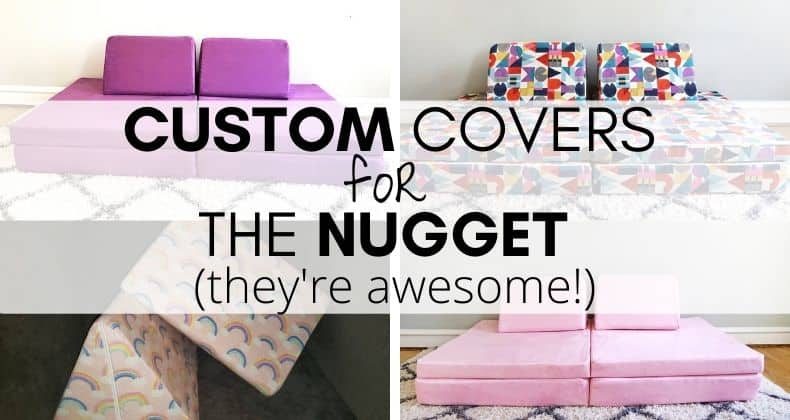 If you're looking beyond standard colors for your Nugget couch, we've tracked down some custom Nugget covers; check out these cool designs!